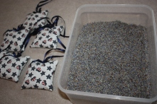Sachets & container of lavender