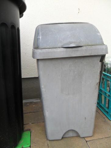 compost bin right outside back door