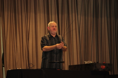 Richard Haslam's floral demonstration with cane.
