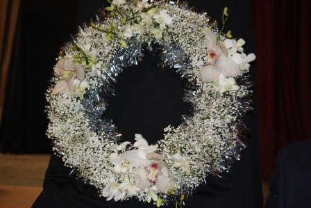 Richard Haslam's Christmas wreath.