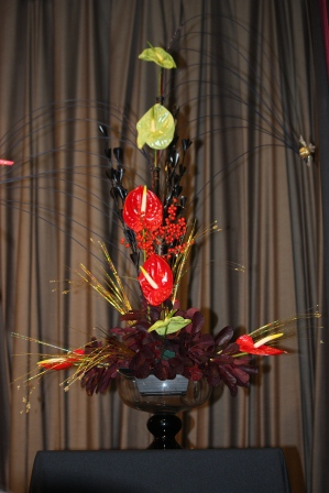 Richard Haslam's Christmas arrangement using cane.
