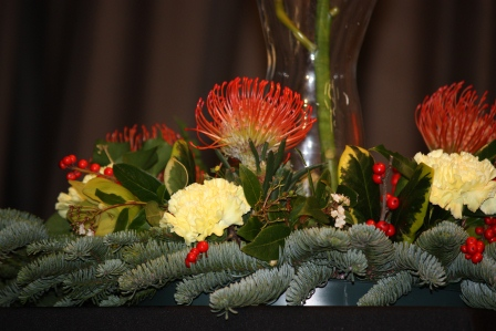 Gorgeous Christmas flowers.