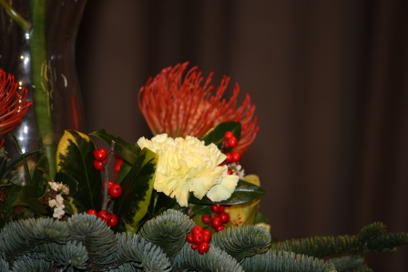 Close-up of Richard Haslam's arrangement.
