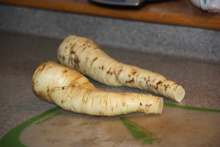 The parsnips were a nice size.