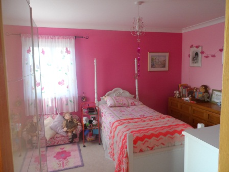 Our littlest one's very pink room!