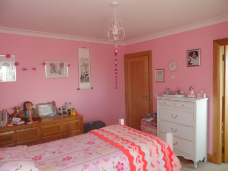 A very pink room!