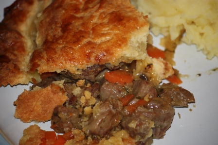 Kerry pie with mashed potatoes.