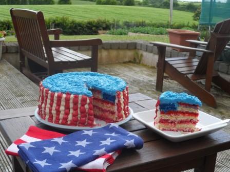 American flag cake.
