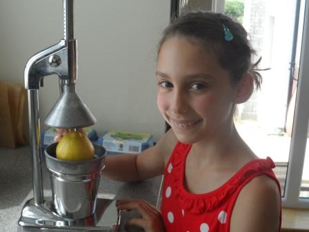 Making lemonade.