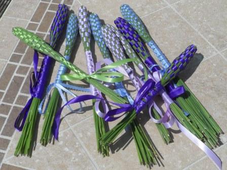 Lavender wands.