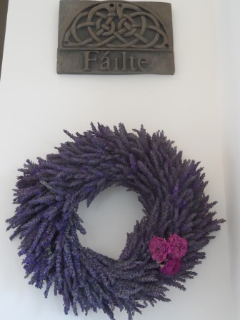 Wreath with our Failte (Welcome) plaque.
