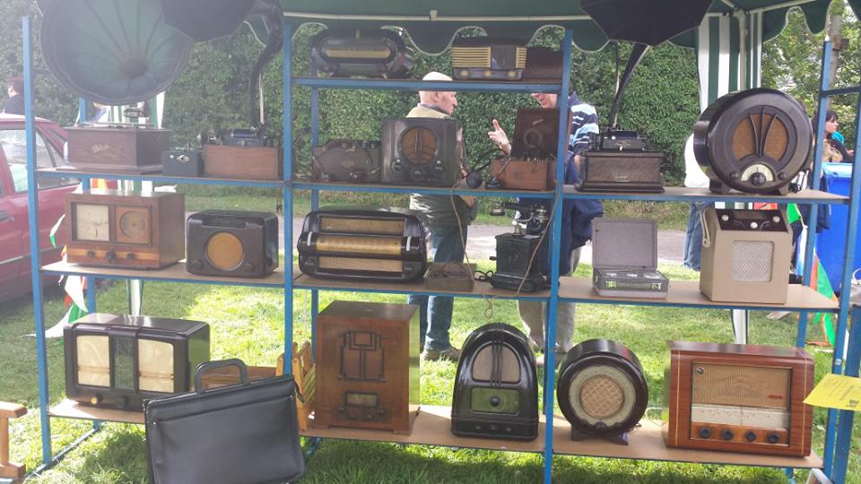 Antique display of radios.