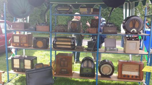 Antique display of radios.