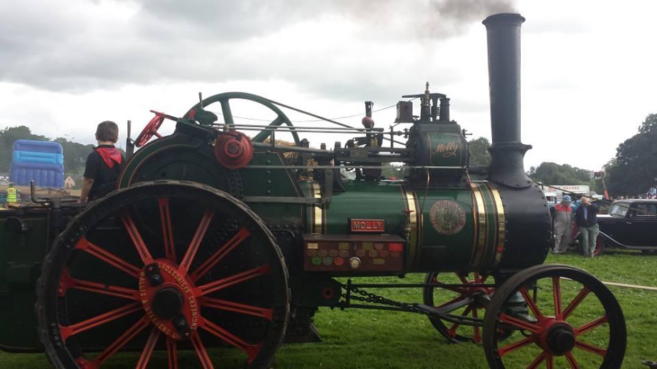 Vintage steam engine.