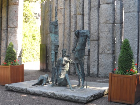 Irish Famine Memorial at St. Stephen's Green Park.