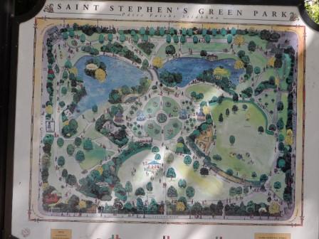 St. Stephen's Green Park map.