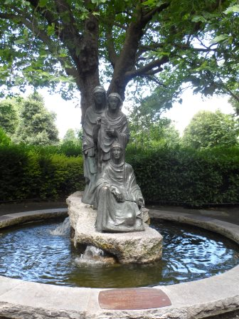 Statue of  the Three Fates, presented to Dublin in 1956 by West Germany in gratitude for Irish aid after WWII.