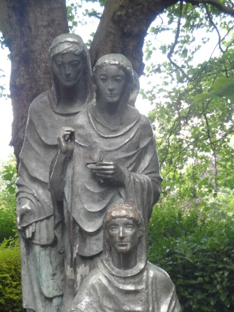 Statue of The Three Fates.