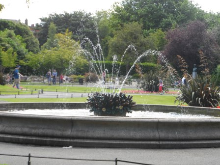 One of the fountains.