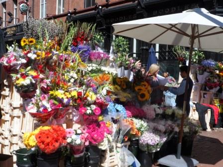 Flower stall on Grafton Street.