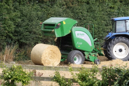 And there you have it! A bale of straw.
