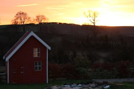 A lovely sunset in November.