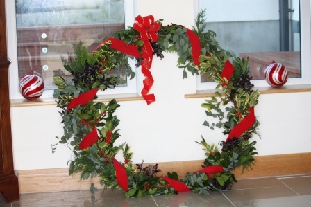 Our finished wreath.
