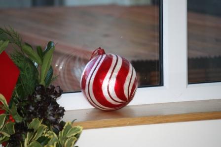 Large Christmas ball.
