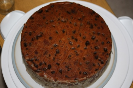 baked Christmas cake (traditional fruit cake)