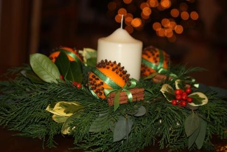 Clove & Orange Pomander Wreath