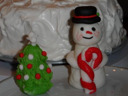 Snowman cake topper