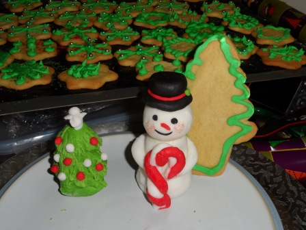Snowman with some cookies
