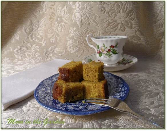 Pumpkin bread and a cup of tea
