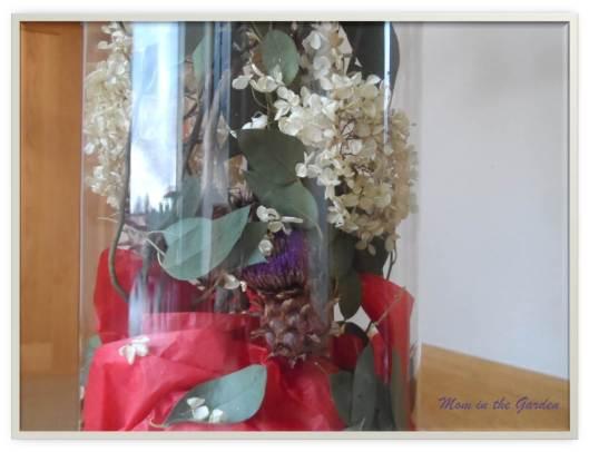 Close up of artichoke plant inside the vase
