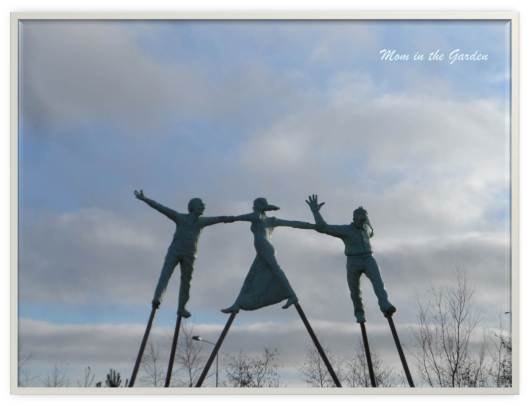 David Annand sculpture from Patrick Kavanagh's poem Come Dance with Kitty Stobling