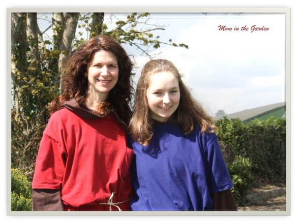 My oldest daughter and I at the re-enactment