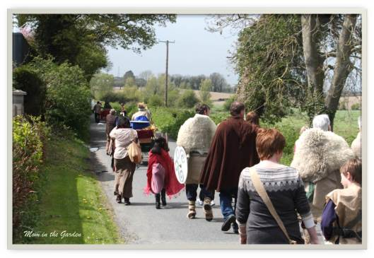 Brian Boru Funeral Procession from Louth Village to Inniskeen re-enactment
