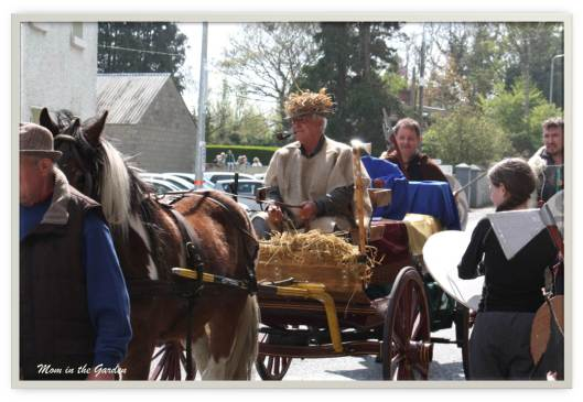 The horse and carriage transporting the remains of Brian Boru from the Battle of Clontarf to the Cathedral in Armagh