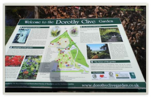 Dorothy Clive Gardens Visitor's map