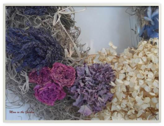 lavender, roses, and hydrangea