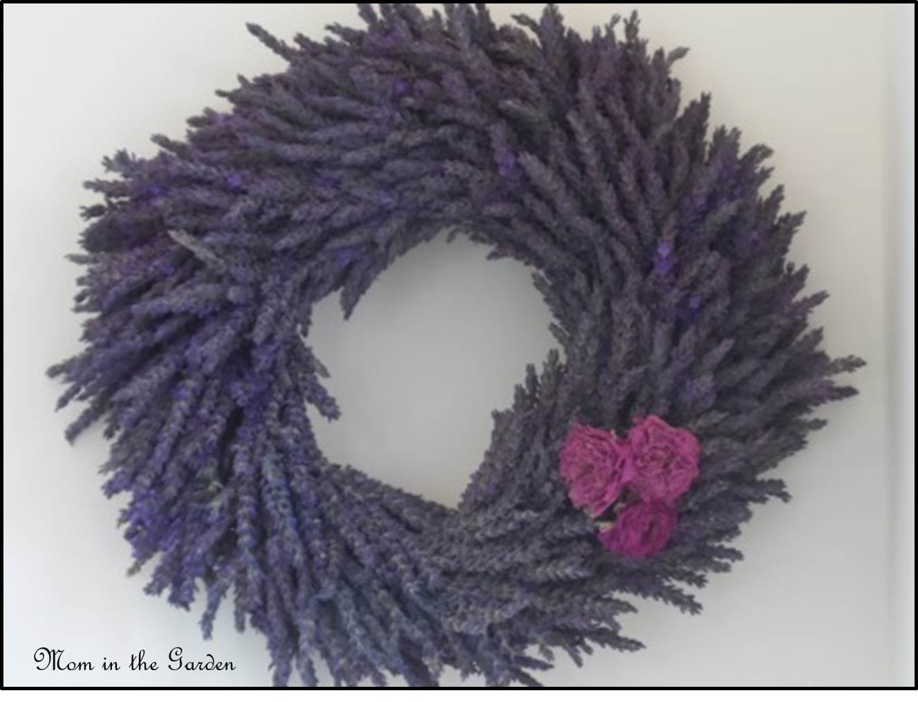 Lavender wreath with dried roses