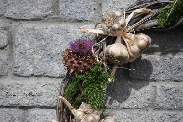 Artichoke and garlic up close