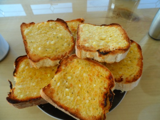 fresh garlic bread