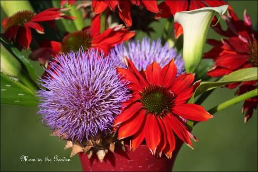 Fun colors in a fun vase