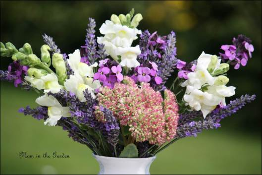 In a Vase on Monday: White & Purples & a wee bit of pink