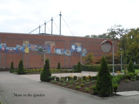 Mosaic and garden at DCU