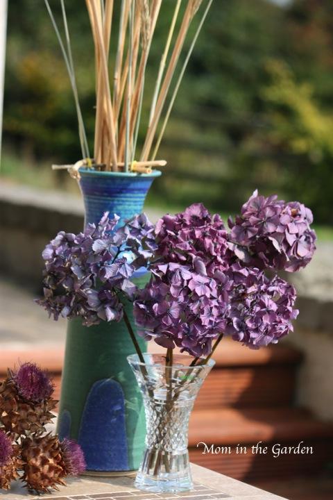 Hydrangea & globe artichokes