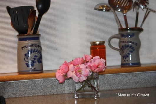 but the flowers need water so here they are on my counter