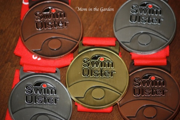 Swimming medals from one gala