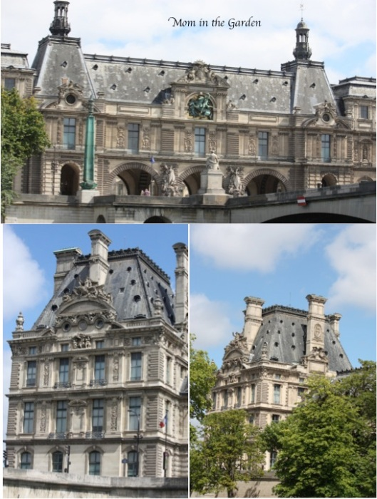 Boat tour buildings... top photo is part of the Louvre